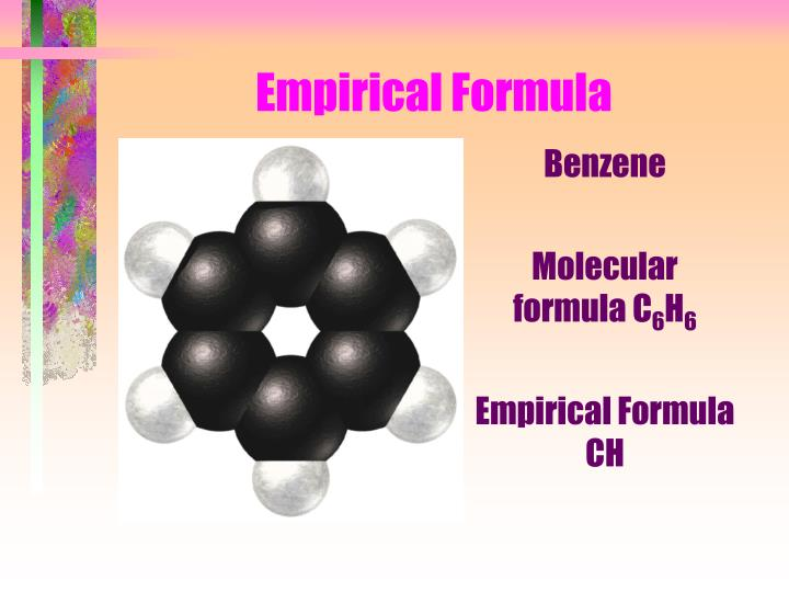 empirical chemicals a Order of elements in a chemical formula by ron kurtus (revised 31 january 2016) when you write a chemical formula, there is a specific order of the elements in 1900, edwin a hill devised a system of writing a chemical formula that is used for a large number of compounds today.